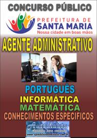 Apostila impressa concurso de SANTA MARIA DO PARÁ-PA 2018 - Agente Administrativo