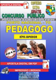 Apostila Digital Concurso da Prefeitura de Porto Nacional - TO – 2019 - Pedagogo