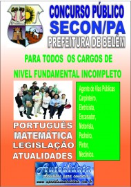 Apostila concurso da SECON-PA - Nível Fundamental Incompleto