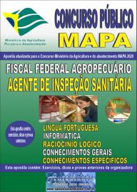 Apostila Impressa Concurso Público do MAPA - 2020 Fiscal Federal Agropecuário - Agente de Inspeção Sanitária