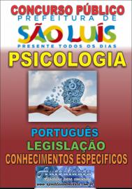 Apostila impressa concurso da PREFEITURA DE SÃO LUIZ - MA - 2018 - Psicologia
