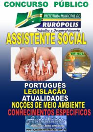 Apostila Impressa Concurso PREFEITURA MUNICIPAL DE RURÓPOLIS - PA - 2019 - Assistente Social