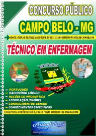 Apostila Impressa Concurso Público Prefeitura de Campo Belo - MG 2020 Técnico em Enfermagem