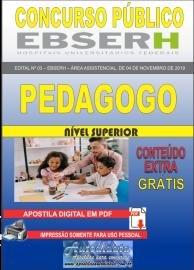 Apostila Digital Concurso EBSERH - 2019 Pedagogo