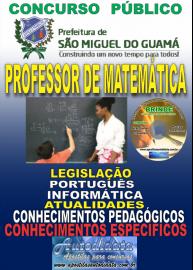 Apostila Impressa SÃO MIGUEL DO GUAMÁ/PA 2019 - Professor De Matemática