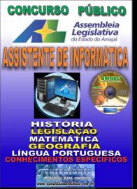 Apostila Impressa Concurso ASSEMBLEIA LEGISLATIVA DO AMAPÁ - 2019 - Assistente De Informática
