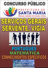 Apostila impressa concurso de SANTA MARIA DO PARÁ-PA 2018 - Serviços gerais, Servente, Vigia