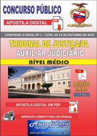 Apostila digital concurso Tribunal de Justiça do Pará TJ-PA 2019 – Auxiliar Judiciário Nível Medio
