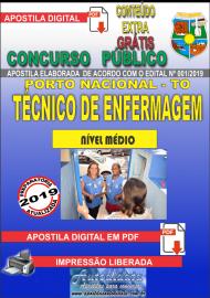 Apostila Digital Concurso da Prefeitura de Porto Nacional - TO – 2019 - Técnico De Enfermagem