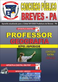 Apostila Digital Concurso Público Prefeitura de Breves - PA 2020 Professor de Geografia