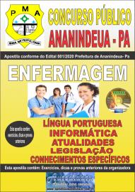 Apostila Impressa Concurso Público Prefeitura de Ananindeua - PA 2020 Área Enfermagem