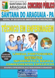 Apostila Impressa Concurso Prefeitura Municipal de Santana do Araguaia - PA 2019 Técnico em Enfermagem