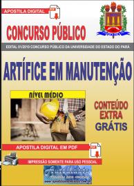 Apostila Digital Concurso Universidade do Estado do Pará - UEPA 2019 Artífice em Manutenção