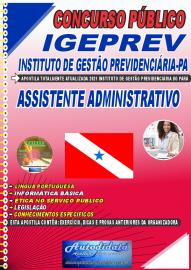 Apostila Impressa Concurso IGEPREV-Instituto de Gestão Previdenciária-PA 2021 Assistente Administrativo
