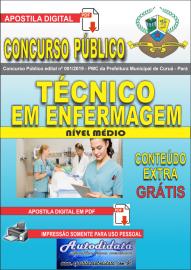 Apostila Digital Concurso Público Prefeitura Municipal de Curuá - Pará 2019 Técnico em Enfermagem