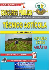 Apostila Digital Concurso Público Prefeitura Municipal de Curuá - Pará 2019 Técnico em Agrícola