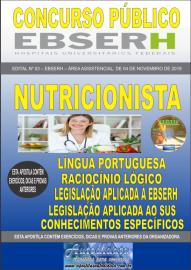 Apostila Impressa Concurso EBSERH - 2019 Nutricionista
