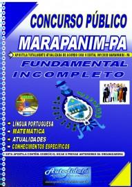 Apostila impressa concurso Marapanim - PA 2020 Fundamental Incompleto