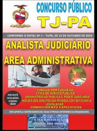 Apostila impressa Concurso TJ-PA 2019 - Analista Judiciário Área Administrativa