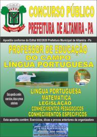 Apostila Impressa Concurso Público Prefeitura Municipal de Altamira - Pa 2020 Área Professor de Educação do Campo - Língua Portuguesa