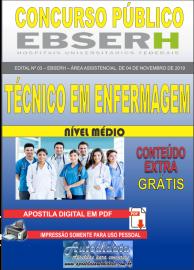Apostila Digital Concurso EBSERH - 2019 Técnico em Enfermagem