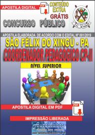 Apostila Digital concurso SÃO FÉLIX DO XINGU/PA - 2019 – Coordenador Pedagógico CP-II
