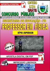 Apostila Digital Concurso SEECT/PB - 2019 - Professor De Física