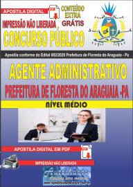 Apostila Digital Concurso Público Prefeitura de Floresta do Araguaia - Pa 2020 Área Agente administrativo