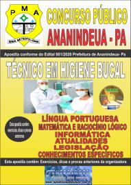 Apostila Impressa Concurso Público Prefeitura de Ananindeua - PA 2020 Área Técnico em Higiene Bucal