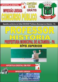 Apostila Digital Concurso Público Prefeitura de Altamira 2020 Área Professor de História