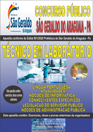 Apostila Impressa Concurso Público Prefeitura Municipal de São Geraldo do Araguaia - PA 2020 Técnico em Laboratório